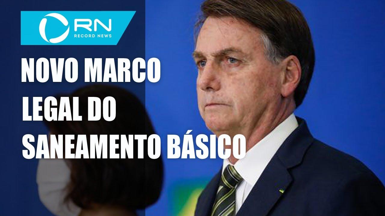 Bolsonaro sanciona com 11 vetos novo marco do saneamento básico ...