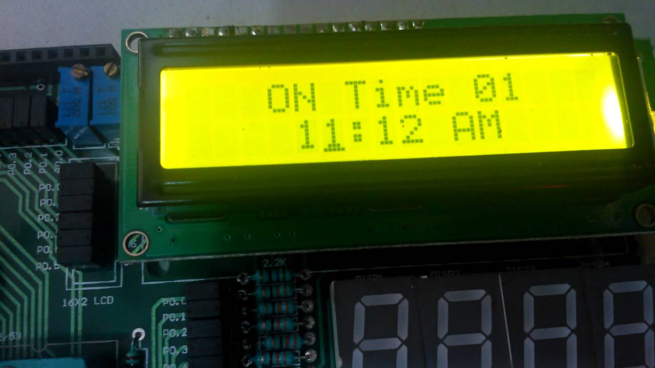 Automatic College Bell Timer On 8051projects Board Youtube