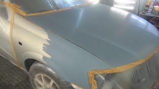 Как обклеить морду авто под покраску и не покрасить внутрянку. Для новичков.