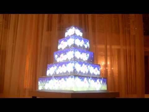 Wedding Cake projection Mapping- Saudi Arabia