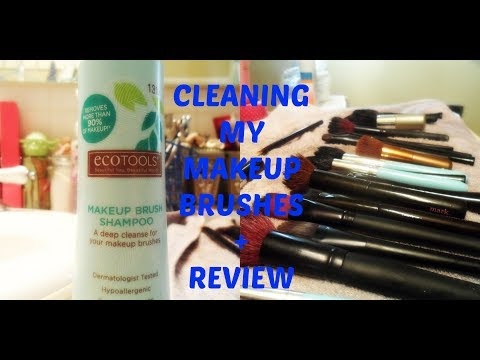 CLEANING MY MAKEUP BRUSHES + REVIEW!