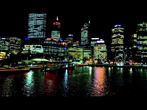 A night view click on Elizabeth Quay,Perth,Western Australia
