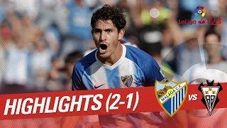 Resumen de Málaga CF vs Albacete BP (2-1)