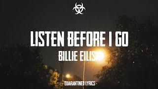 listen before i go - billie eilish (Lyrics)[1hr with rain]