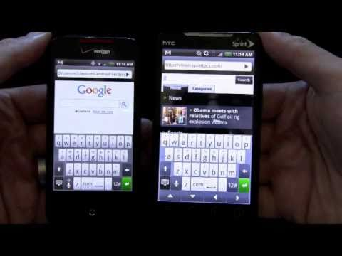 HTC Droid Incredible vs HTC Evo 4G Part 1