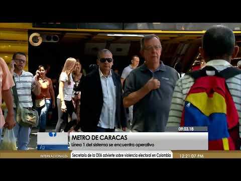 Noticias Globovisión - Línea 1 del Metro de Caracas ya se encuentra totalmente operativa