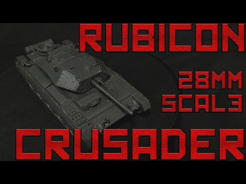 Rubicon 28mm Scale Plastic Crusader Tank