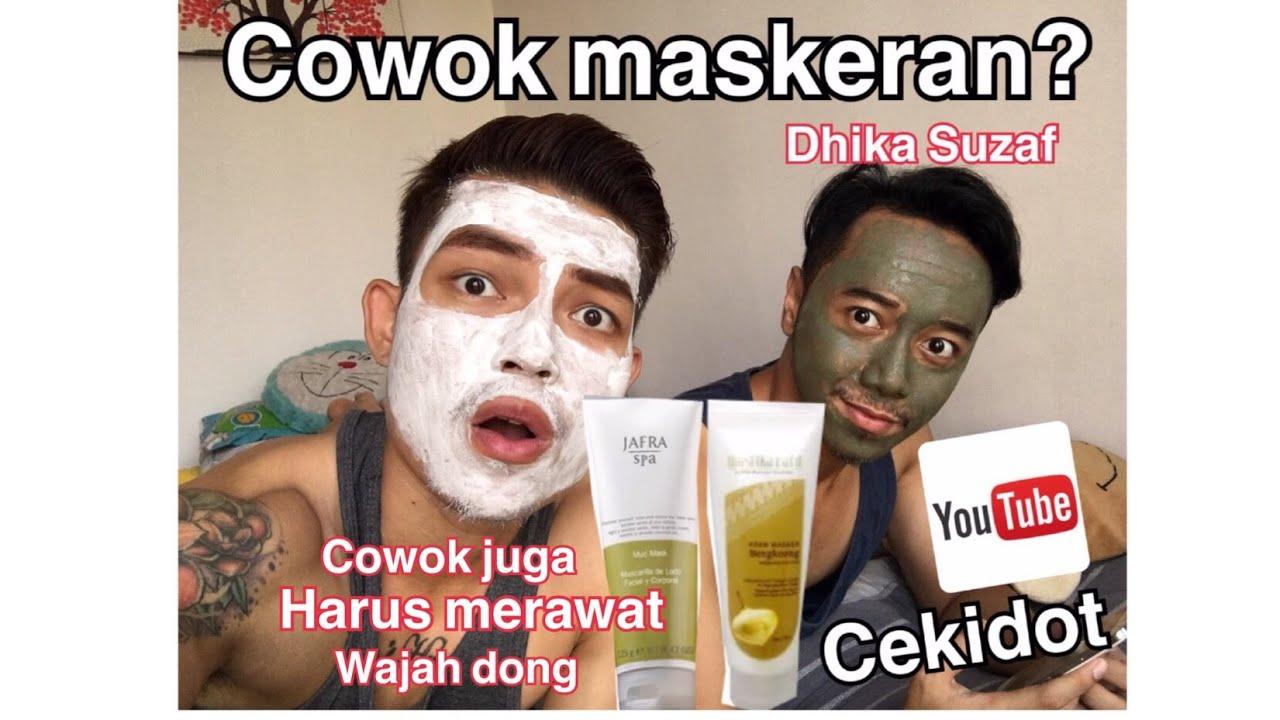 Treatment Wajah Pria Dengan Masker Lumpur Dan Masker Bengkoang