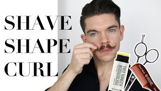 Handlebar Moustache Tutorial   Shaving and Styling How To 👨🏻