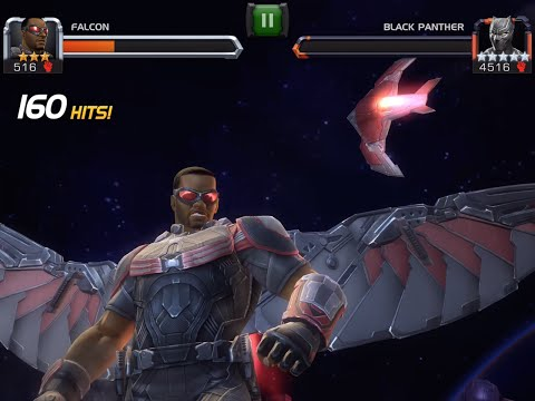 Falcon Unboxing and Battle vs. Black Panther (Civil War) | Marvel Contest of Champions