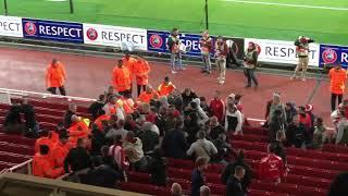 Arsenal London vs 1.FC Köln hooligans trouble