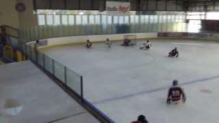 Mustangové Pardubice vs HC Sparta Praha Sledge hokej
