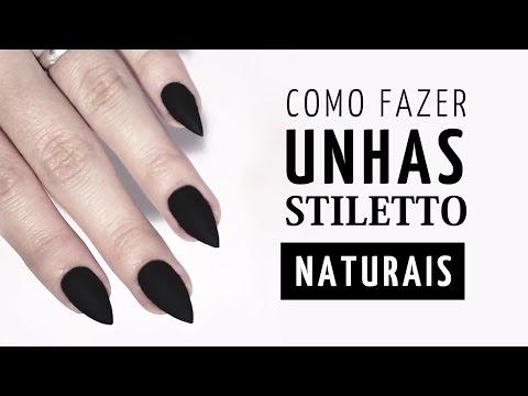 COMO FAÇO MINHAS UNHAS STILETTO (NATURAIS)