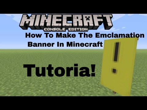 Minecraft Ps4 Console Exclamation Banner Tutorial!