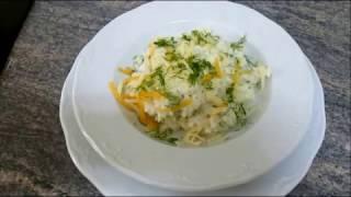 Гарнир - пюре из цветной капусты с сыром и чеснокм, простой рецепт