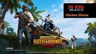 "[Hindi] PUBG Mobile   ""25 Kills"" Chicken Dinner & Reverse Car Driving Challenge"