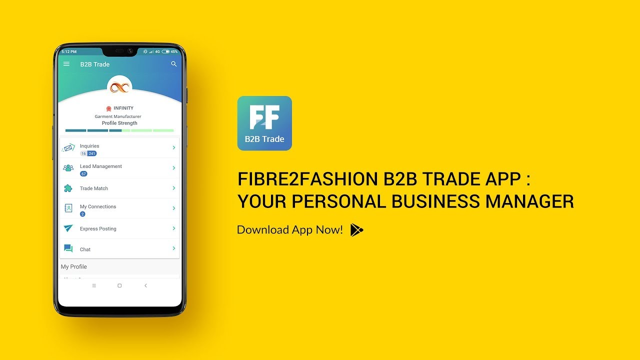 B2B Trade App – Your Personal Business Manager | Fibre2Fashion
