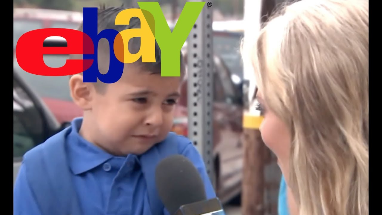 Reporter Makes Kid Cry Is Now Ebay Commercial Youtube