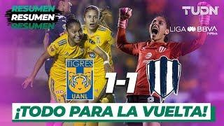 Resumen y goles   Tigres 1 - 1 Rayadas   Liga MX Femenil - Final - AP 19   TUDN