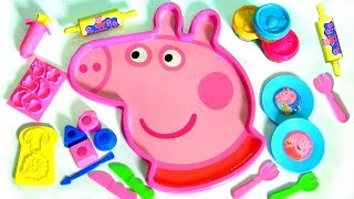 Giant Peppa Pig Head Play-Doh Mold N Play 3D Figure Maker Peppas Face with Softee Dough  Play-Doh