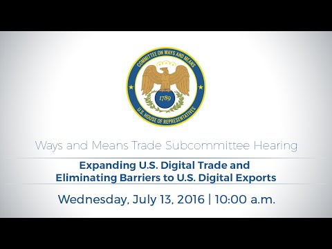 Expanding U.S. Digital Trade and Eliminating Barriers to U.S. Digital Exports