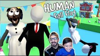 Granny en el Mundo de Plastilina | Aventuras Human Fall Flat | Juegos Karim Juega