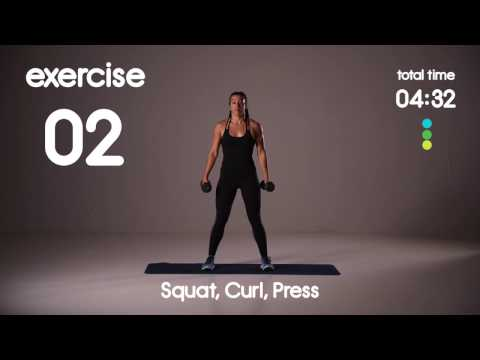 Full Body, Cardio & Core HIIT Workout - Level 1 or 2 - 20s/20s 30s/20s Intervals