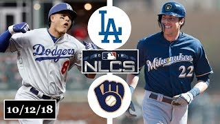 Los Angeles Dodgers vs Milwaukee Brewers Highlights || NLCS Game 1 || October 12, 2018