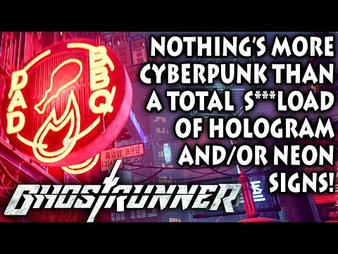 CYBERPUNK ROOFTOP RUNNING! (with LOTS of holo-neon) | Let's Play Ghostrunner (Steam PC 1080p 60fps) |