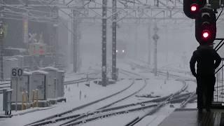 西武鉄道20103F 準急池袋行 雪の所沢到着