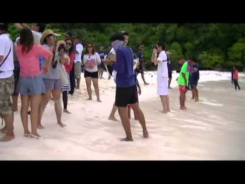 The Flying Scouts - Releasing Green Sea Turtles. Similan Islands, Southern Thailand. April 2013