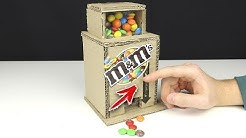 How to make a M&M's CANDY DISPENSER MACHINE from CARDBOARD
