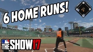 GRIFFEY JR HOMERED! 6 HOME RUNS! - MLB The Show 17 Diamond Dynasty