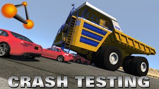 BeamNG.drive - Huge Dump Truck Crash Testing