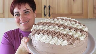 TORTA CHANTILLY BICOLORE DI BENEDETTA Ricetta Facile - Chantilly Cream Cake Easy Recipe