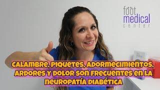 Diabética pierna neuropatía en una