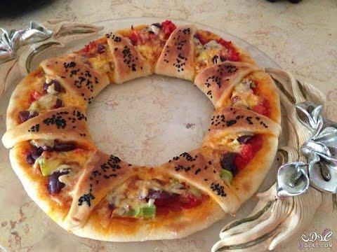 صورة  طريقة عمل البيتزا pizza   طريقة عمل بيتزا على شكل وردة طريقة عمل البيتزا من يوتيوب