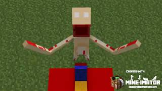 Minecraft animations: SCP-096 kills Riley Anderson. Anomaly 666