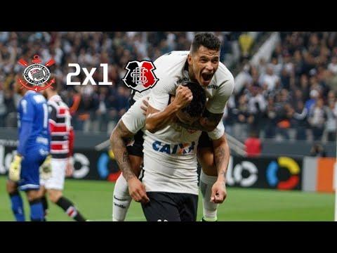Corinthians 2 x 1 Santa Cruz Gols Brasileirão 2016