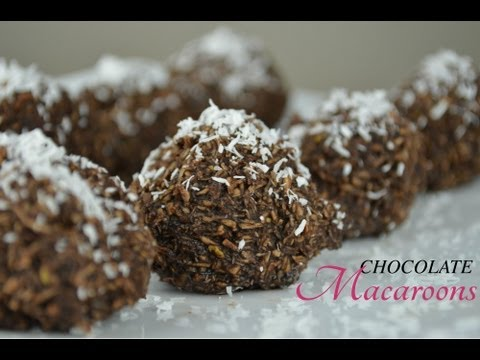 Easy No Bake Chocolate Macaroons | Raw Vegan Recipe