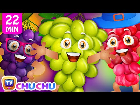 Thumbnail: Grape Song | Learn Fruits for Kids | Original Educational Fruits Songs & Nursery Rhymes by ChuChu TV