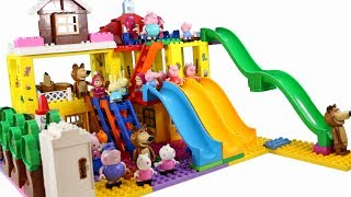 Peppa Pig Blocks Mega House LEGO Creations Sets With Masha And The Bear Legos Toys For Kids #32