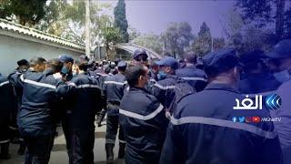شاهد   مسيرة لأفراد الحماية المدنية في الجزائر للمطالبة بتحسين ظروفهم المعيشية