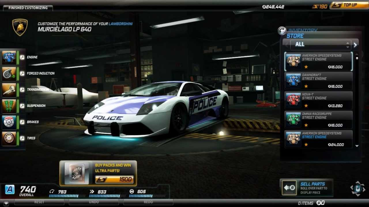 need for speed world amazing lamborghini murci lago lp640 cop edition youtube. Black Bedroom Furniture Sets. Home Design Ideas