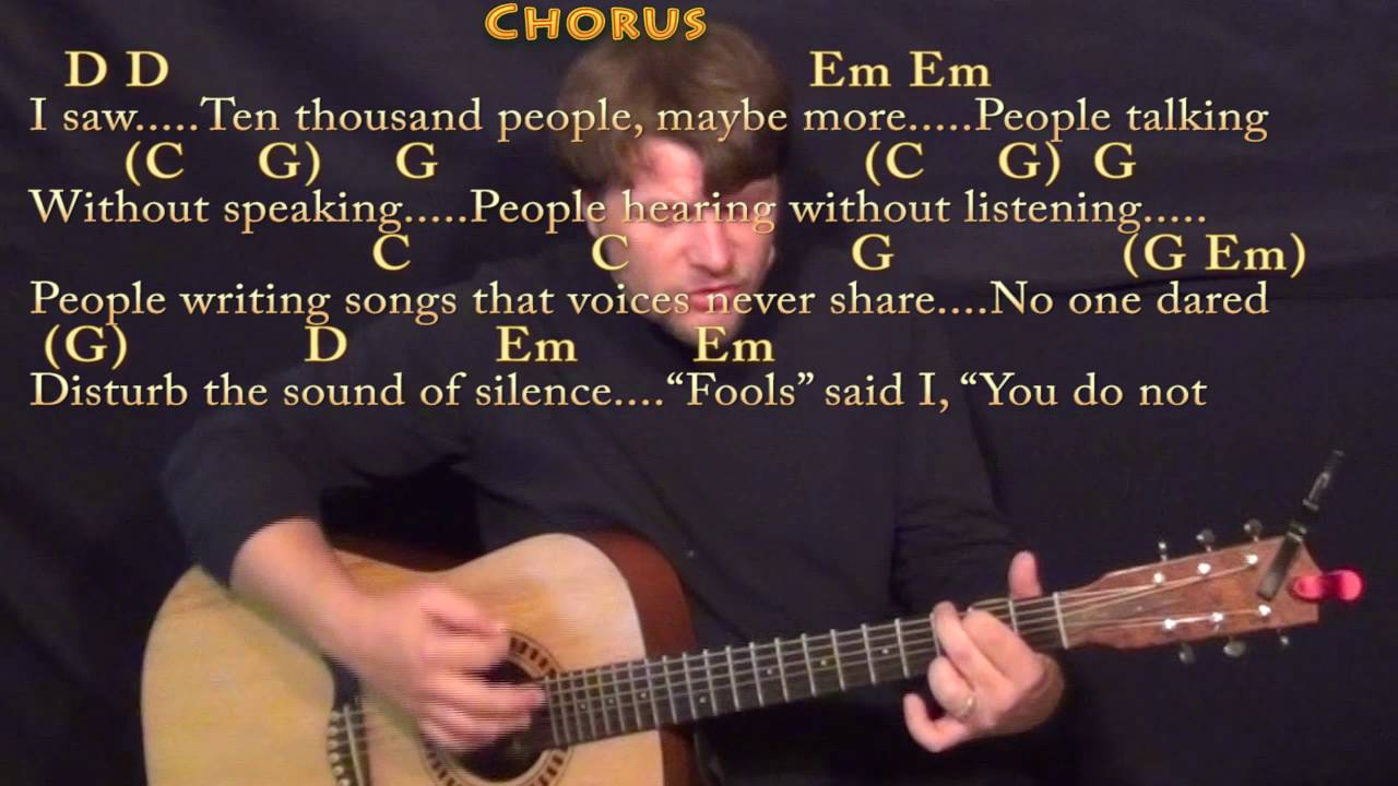 The Sound Of Silence Simon Garfunkel Strum Guitar Cover Lesson