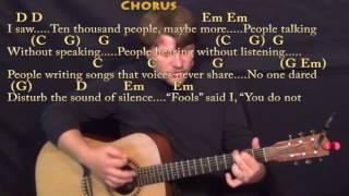 The Sound of Silence (Simon & Garfunkel) Strum Guitar Cover Lesson in Em with Chords/Lyrics