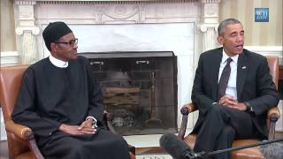 president buhari meets barack obama at the white house commits a faux pas