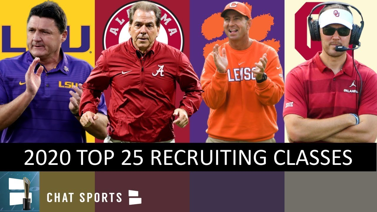 College Football Recruiting: Top 25 Recruiting Classes Leading Up To 2020 National Signing Day