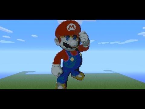 Delightful Minecraft Mario Pixel Art