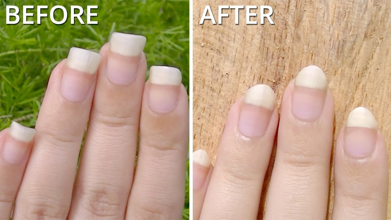 2 Ways! How to File your Nails Pointy/Almond | madjennsy (Requested ...